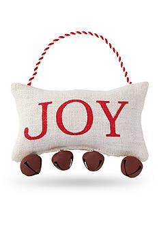 Mud Pie 7-in. 'Joy' Jingle Bell Pillow Hanger