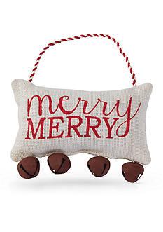Mud Pie 7-in. 'Merry Merry' Jingle Bell Pillow Hanger