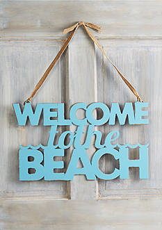 Mud Pie® 'Welcome to the Beach' Word Sign