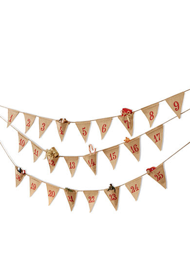 Mud Pie® 120-in. Pennant Banner Advent Calendar