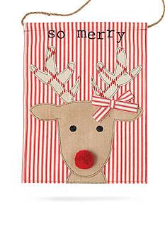 Mud Pie 16-in. 'So Merry' Reindeer Door Flag