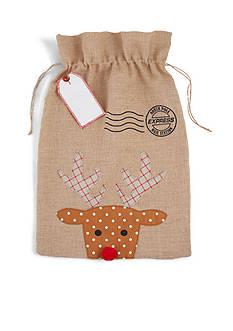 Mud Pie 31-in. Personalized Reindeer Gift Sack