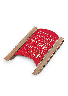 Mud Pie 21-in. Christmas Sleigh Plaque