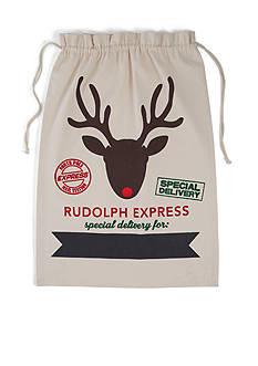 Mud Pie 32-in. Rudolph Express Canvas Sack