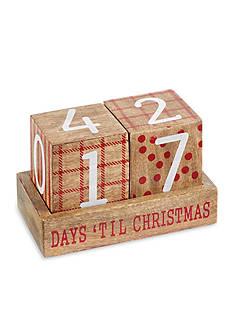 Mud Pie 3-Piece Christmas Countdown Blocks Set