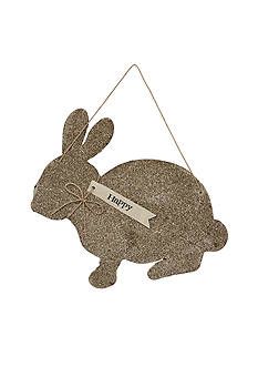 Mud Pie® Glitter Bunny Decorative Hanger