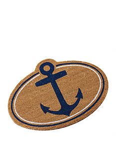 Mud Pie Anchors Away Anchor Coir Mat