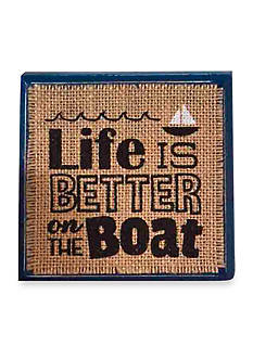 Mud Pie® Sea Wood Plaque: Life Is Better