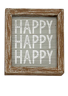 Mud Pie® 6-in. x 6-in. Happy Happy Happy Plaque