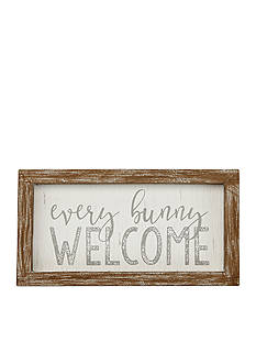 Mud Pie 4-in. x 7.5-in. Every Bunny Welcome Plaque