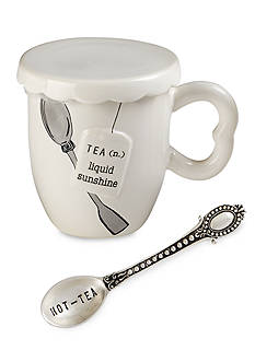 Mud Pie® Circa 3-Piece 'Liquid Sunshine' Tea Cup, Spoon, and Cover Set