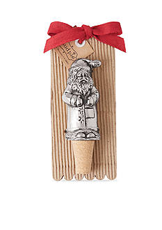 Mud Pie 5.5-in. Santa Bottle Stopper
