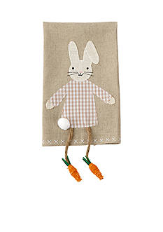 Mud Pie Easter Dangling Leg Bunny Kitchen Towel - Girl