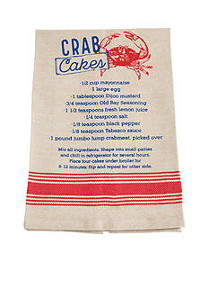 Mud Pie Anchors Away Crab Cake Recipe Towel