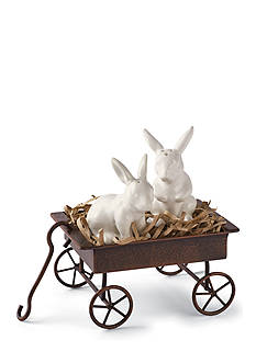 Mud Pie 3-Piece Bunny Salt and Pepper Shaker Set