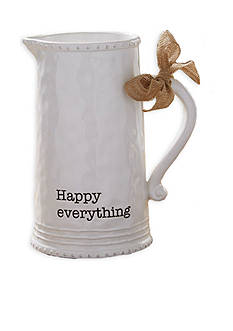 Mud Pie® Circa 9.5-in. 'Happy' Pitcher