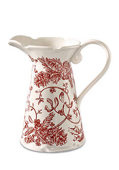 Mud Pie Holly Toile Pitcher