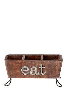 Mud Pie Circa 12-in. Eat Flatware Caddy