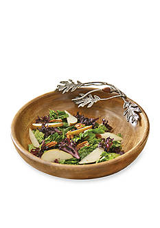 Mud Pie® Oakleaf 14-in. Wood Serving Bowl