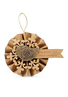 Mud Pie 5-in. Glitter Bird Fan Ornament