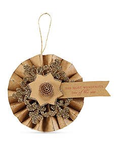 Mud Pie 5-in. Glitter Flourish Fan Ornament