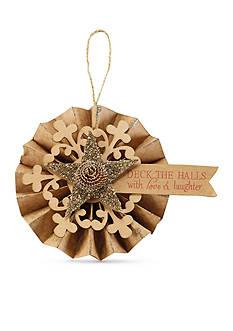 Mud Pie 5-in. Glitter Star Fan Ornament