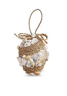 Mud Pie 4-in. Egg Rope & Shell Ornament