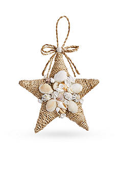 Mud Pie 6-in. Rope & Shell Star Ornament