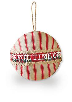 Mud Pie 4-in. 'Wonderful Time' Tartan Ornament