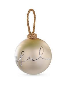 Mud Pie 5-in. 'Joyful' Metallic Ornament