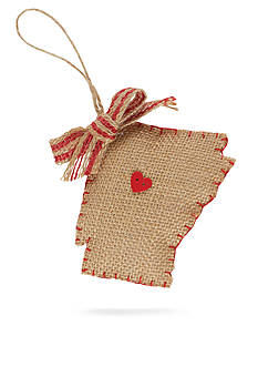Mud Pie 4.5-in. Burlap Arkansas Ornament