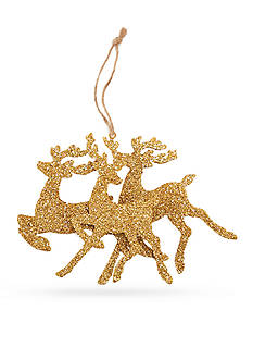 Mud Pie 7.5-in. Glitter Reindeer Ornament