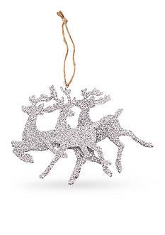 Mud Pie 7.5-in. Glitter Reindeer Ornament