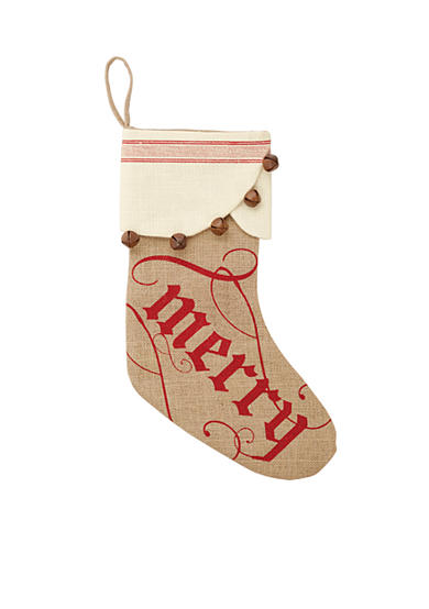Mud Pie® 20-in. 'Merry' Jingle Bell Stocking