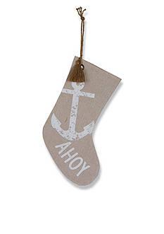 Mud Pie 19-in. 'Ahoy' Printed Stocking
