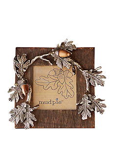 Mud Pie 6.5-in. Mango Wood Acorn Frame