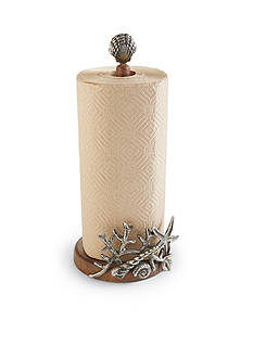 Mud Pie Coastal Naturals Coral and Starfish Paper Towel Holder