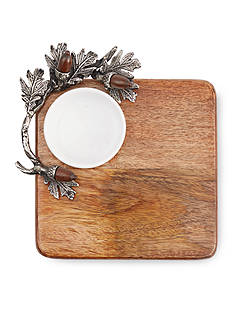 Mud Pie® 2-Piece Acorn Cutting Board Dip Set