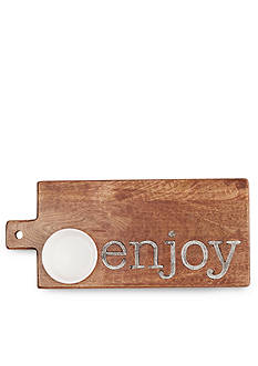 Mud Pie Circa 2-Piece 'Enjoy' Wood Cutting Board Dip Set