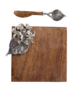 Mud Pie® 2-Piece Hydrangea Small Cutting Board and Spreader Set