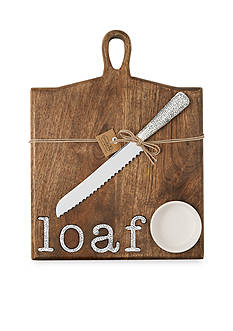 Mud Pie® Circa 3-Piece Loaf Paddle Board, Knife, and Dip Set
