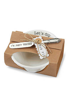 Mud Pie Circa 2-Piece Lets Dip Dip Bowl and Spreader Set