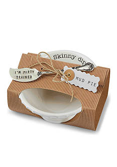 Mud Pie Circa 2-Piece Skinny Dip Dip Bowl and Spreader Set