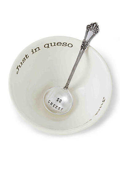 Mud Pie® Circa 2-Piece 'Just In Queso' Dip Bowl and Ladle Set