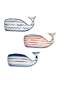 Mud Pie Anchors Away 3-Piece Whale Dip Cup Set