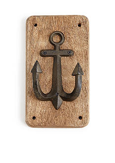 Mud Pie Anchors Away Anchor Plaque Hook