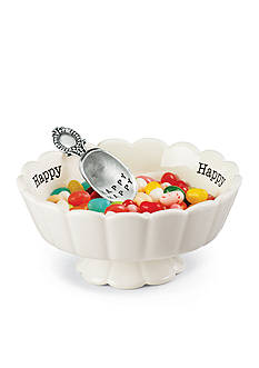 Mud Pie Circa 2-Piece 'Happy' Candy Dish and Scoop Set