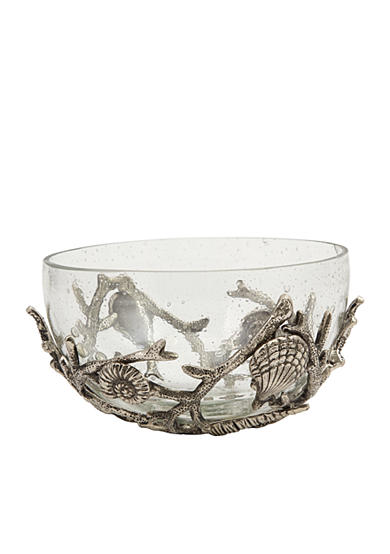 Mud Pie® Coastal Naturals 2-Piece Shell Glass Bowl