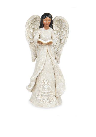 Ganz® 8-in. African American Angel with Book Figurine
