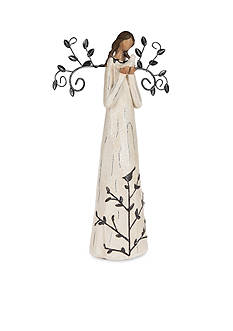 Ganz 11-in. African American Deco Angel with Dove Figurine